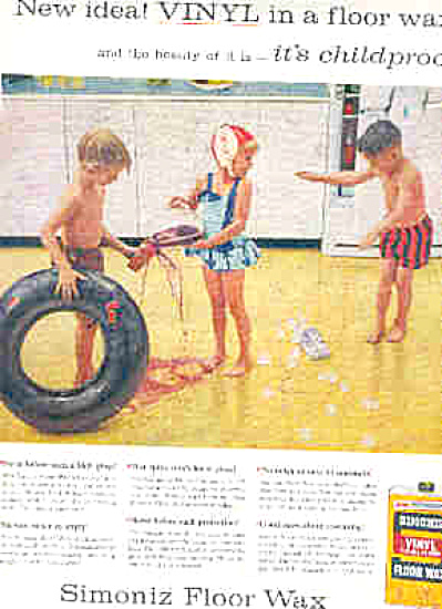 1957 Messy Kids Simoniz Floor Wax Kids (Image1)
