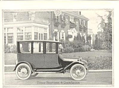 1920 Dodge Brothers 4-Door Sedan Ad ORIGINAL (Image1)