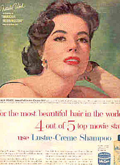 1958  Actress NATALIE WOOD Lustre Crème Ad (Image1)
