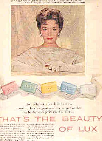 1958Barbara Rush Lux Beauty Soap Ad (Image1)