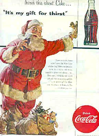 1954 Santa Coca-Cola Ad (Image1)