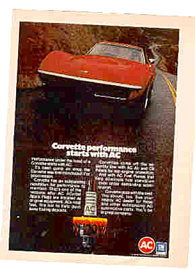 1972 Corvette Performance AC Ad (Image1)