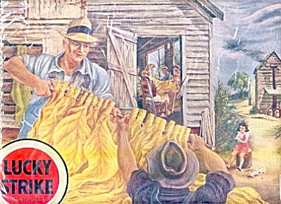 1943 Lucky Strike Auction Day Aaron Bohrod Ad (Image1)