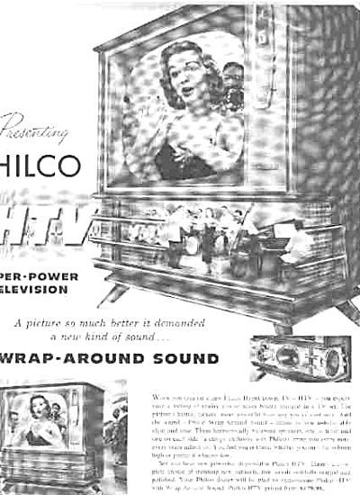 1957 Philco HTV Hyper Power Television Ad (Image1)