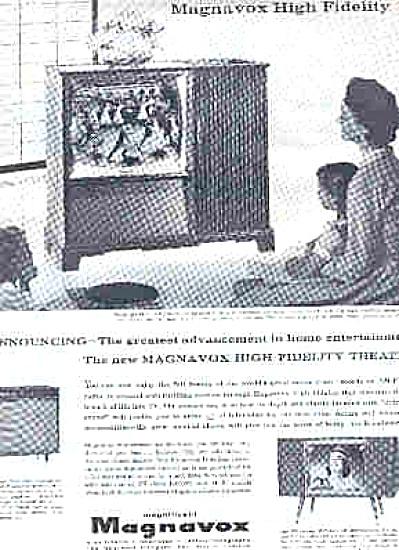 1957 Magnavox High Fidelity TV Ad (Image1)