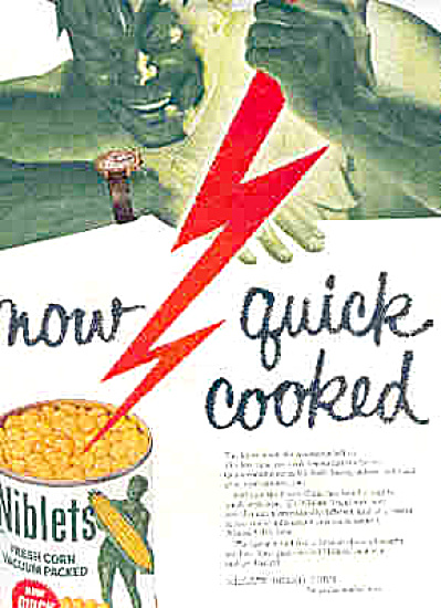 1957 Green Giant Niblets Corn Ad