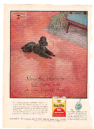 1958 Johnson Floor Wax Poodle Dog Ad (Image1)
