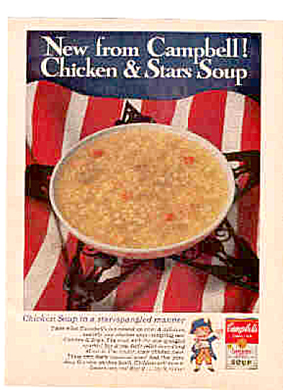 1965 Red White Blue Campbell Soup Ad (Image1)