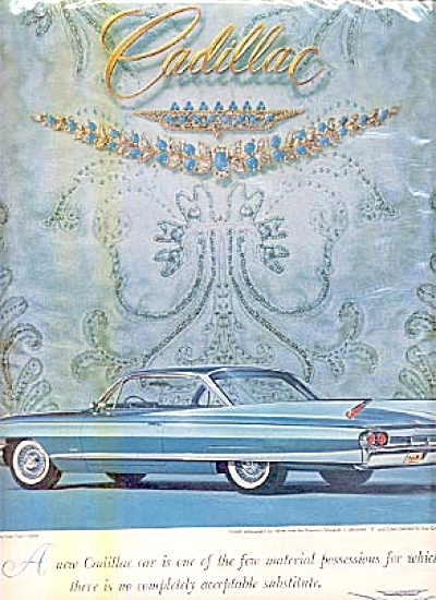 1961 Beautiful Cadillac Coupe Ad SIXTY-TWO (Image1)