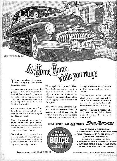 1947 Buick Sedan Car General Motors USA Ad (Image1)