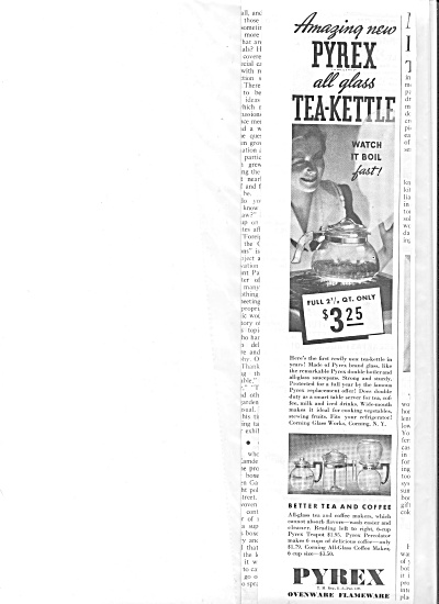 1938 Pyrex All Glass Tea-Kettle Ad (Image1)