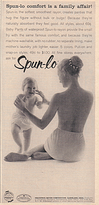 1957 Woman - Child In Spun Lo Panties Ad (Image1)