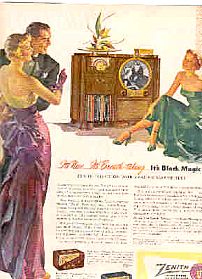 1950 Zenith Television Radio Black Magic Ad (Image1)