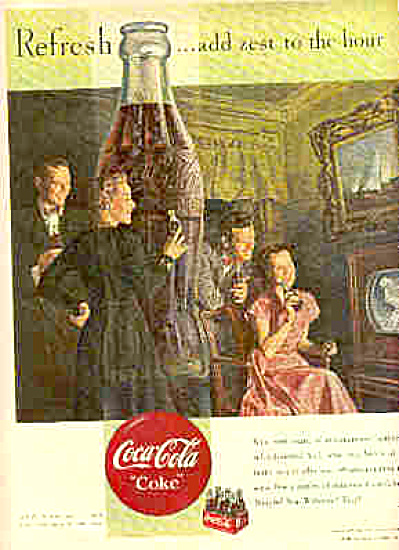 1950 Coca-Cola Entertainment Ad (Image1)