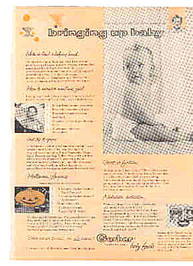 1957 Bringing Up Baby Gerber Baby Food Ad