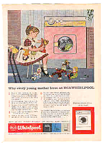 1959 RCA Whirlpool Washer Girl Dolly EVERY Ad (Image1)