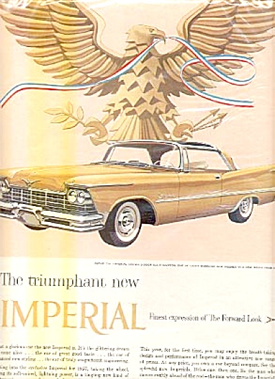1956 Chrysler Gold  Imperial Crown Car Ad (Image1)