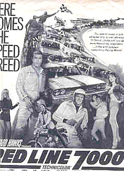 1965 Howard Hanks Red Line 7000 Movie Ad (Image1)