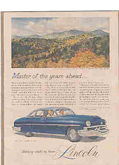 1951 Lincoln Cosmopolitan Sedan By Ford Ad (Image1)