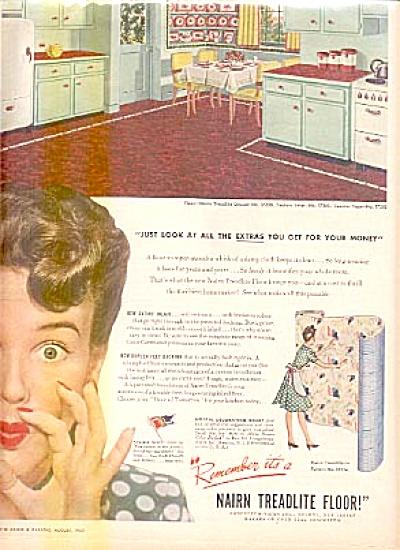 1943 Nairn Treadlite Floor Congoleum Ad (Image1)