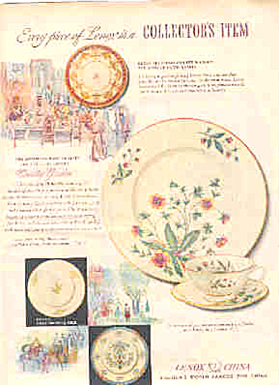 1950 Lenox Collectors China Ad (Image1)