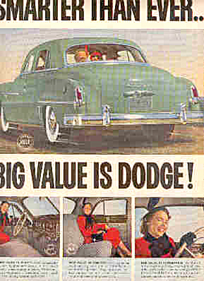 1950 2 Page Dodge Car Coming And Going Ad (Image1)