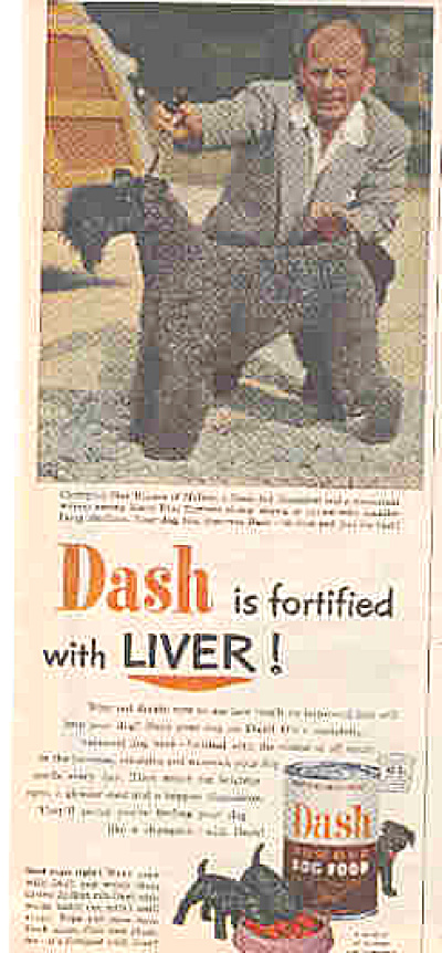 1952 Kerry Blue Terrier Dash Dog  Food Ad (Image1)