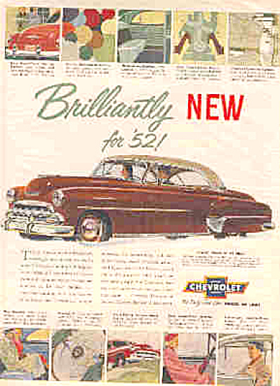 1952 Fine Car Chevrolet Ad (Image1)