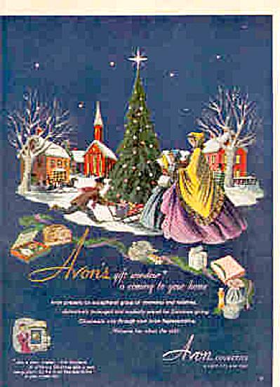 1950 Avon Cosmetics CHRISTMAS Holiday Ad (Image1)