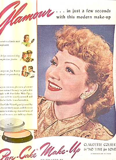 1944 Claudette Colbert MaxFactor Hollywood Ad (Image1)