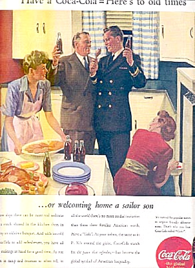 1944 Coca-Cola Welcome Home Sailor Son Ad (Image1)