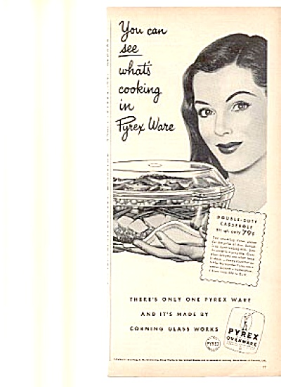 1948 Pyrex Ovenware Corning Glass Works Ad (Image1)
