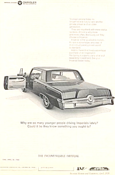 1965 Imperial Chrysler Car Ad (Image1)