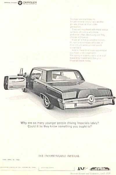 1965 Imperial Chrysler Car Ad (Image1)