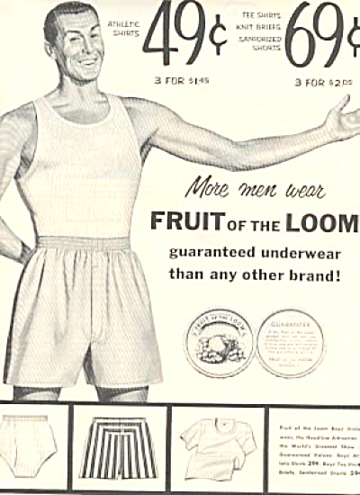 1954  Fruit of the Loom Men's Boy's Underwear (Image1)
