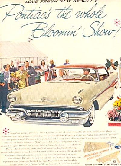 1957 Pontiac YELLOW Sedan CAR Ad (Image1)