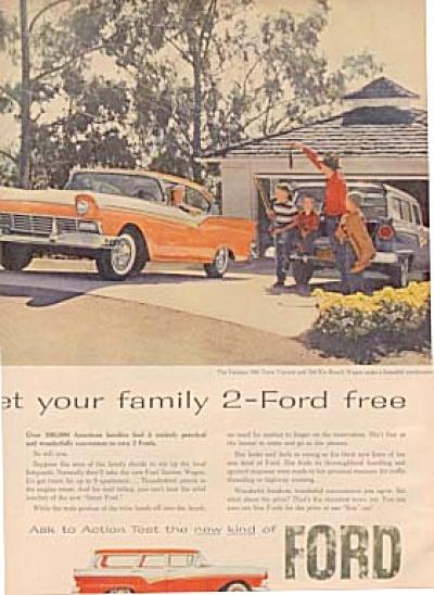 1957 2-Ford Free Family Fairlane Del Rio Car (Image1)