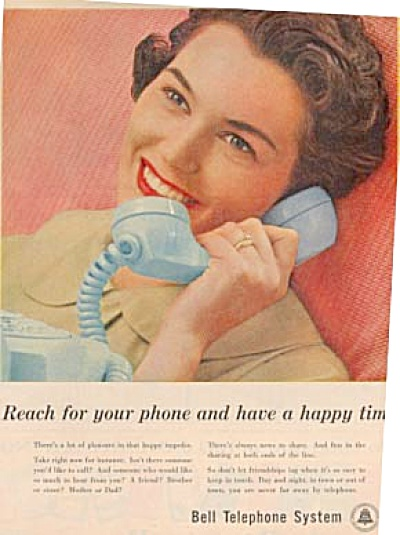 1957 - Lady On Phone-bell Telephone System Ad