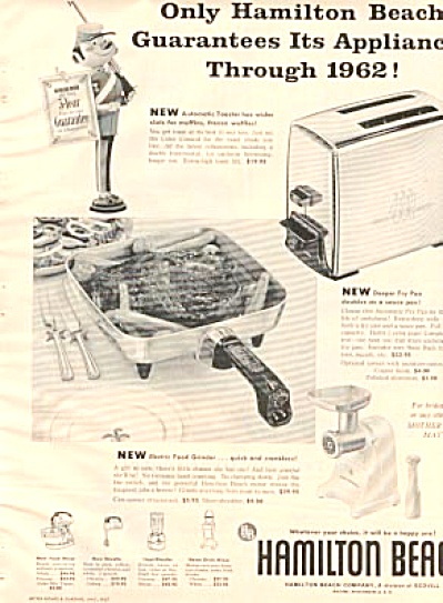 1957 Hamilton Beach Appliances Ad