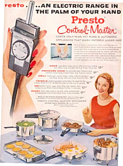 1957 Presto Electric Griddle ++ Models Ad
