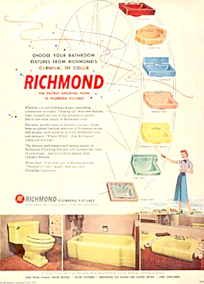 1957 RETRO Colors Richmond Plumbing Fixtures (Image1)