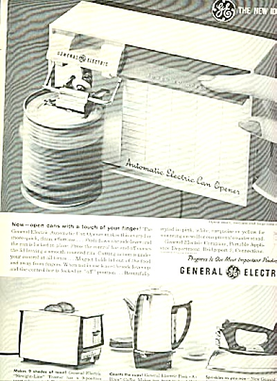 1960 General Electric Kitchen Appliance Ad