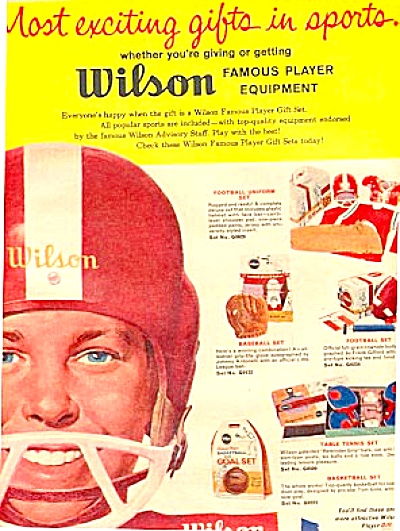 1960 Wilson  Sports Equiptment Ad (Image1)