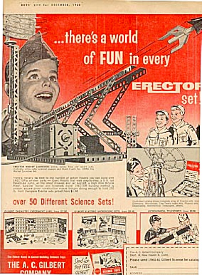 1960 Boy Scout GILBERT ERECTOR Toy Set AD (Image1)