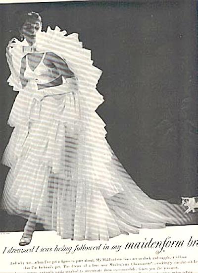 1956 Maidenform I DREAMED...Followed Bra AD (Image1)