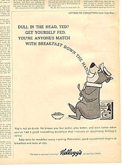 1964 Kelloggs Corn Flakes Yogi Bear Ad (Image1)