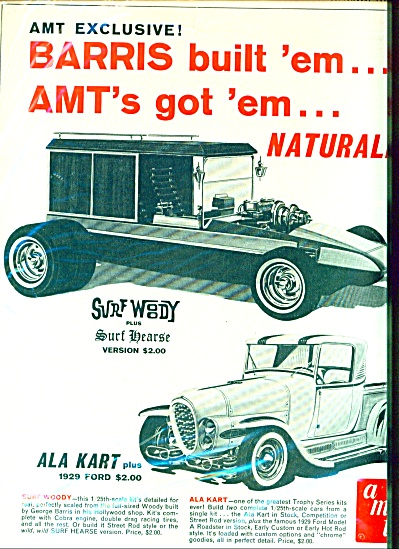 1965 AMT Surf Woody and Ala Kart Ad (Image1)