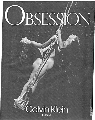 Obession Nude Man & Woman Trapeze Ad
