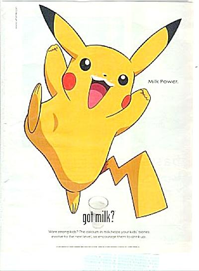 Pikachu Nintendo Got Milk Ad (Image1)