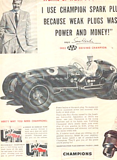1954 Driving Champion Sam Hanks Ad (Image1)